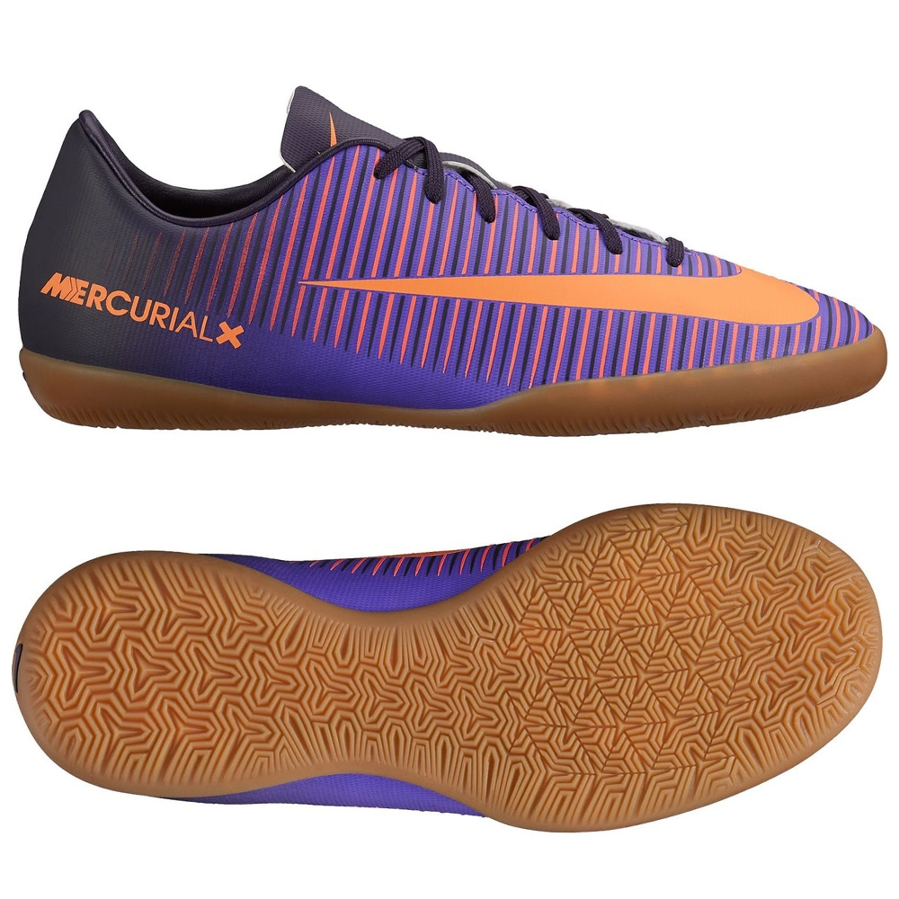 dc26fe93a3e Nike Youth Mercurial Vapor XI Indoor Soccer Shoes (Purple Dynasty Bright  Crimson Hyper Grape)