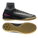 Nike Youth MercurialX Proximo II Street IC Indoor Soccer Shoes (Black/Black/Gum Light Brown)
