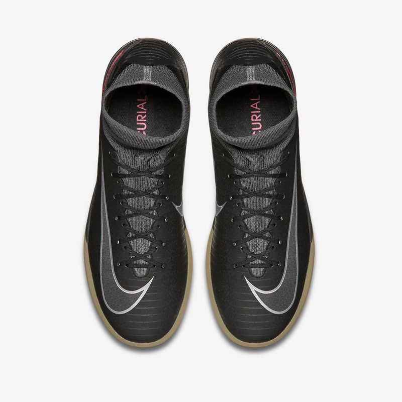 huge selection of 77553 0fb25 Nike Youth MercurialX Proximo II Street IC Indoor Soccer Shoes (Black Black Gum  Light ...