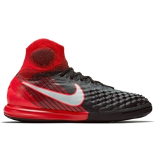 Nike Youth MagistaX Proximo II IC Indoor Soccer Shoes (Black/White/University Red)