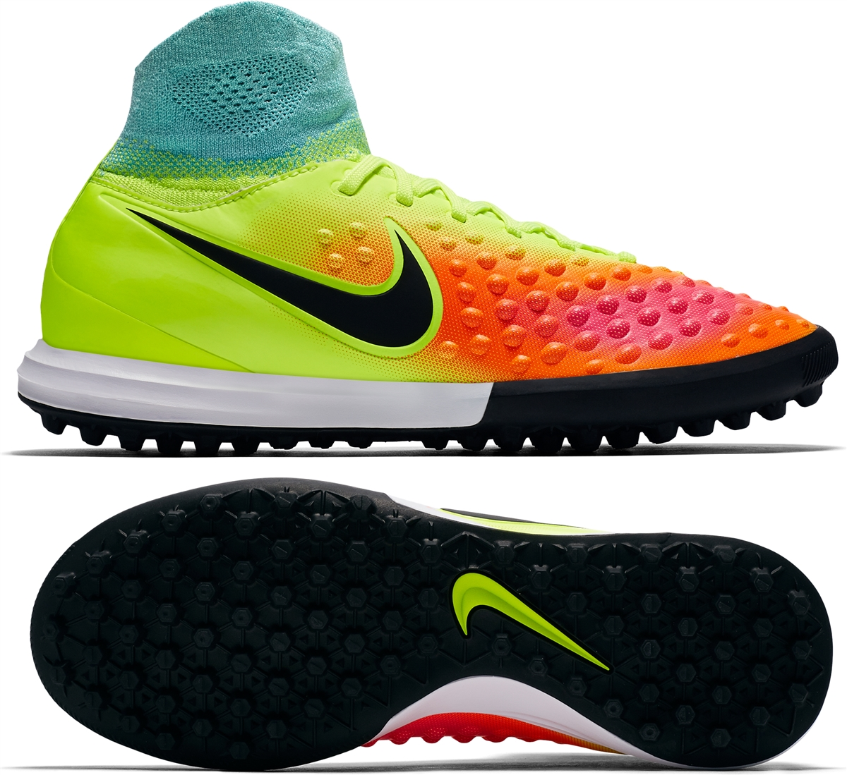8069c30ca Nike Youth MagistaX Proximo II TF Turf Soccer Shoes (Volt Black ...