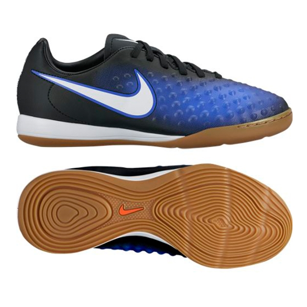 huge selection of 41f06 c69d1 Nike Youth Magista Opus II IC Indoor Soccer Shoes (Black White Paramount  Blue Blue Tint)   Nike Indoor Soccer Shoes   FREE SHIPPING   844422-015 ...