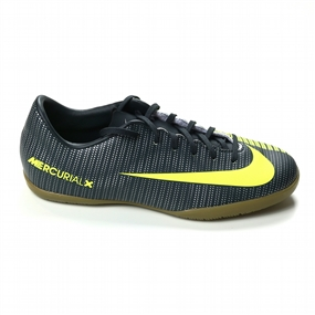 Nike Youth MercurialX Vapor XI CR7 IC Indoor Soccer Shoes (Seaweed/Volt/Hasta/White)