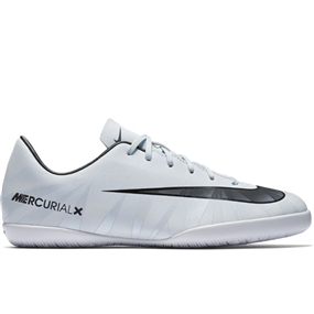 Nike Youth MercurialX Victory VI CR7 IC Indoor Soccer Shoes (Blue Tint/Black/White)