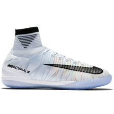Nike Youth MercurialX Proximo II CR7 IC Indoor Soccer Shoes (Blue Tint/Black/White/Volt)