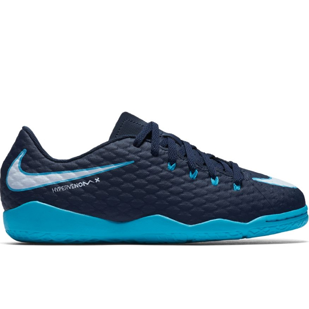 6288e393ee0 Nike Youth HypervenomX Phelon III IC Indoor Soccer Shoes (Obsidian ...