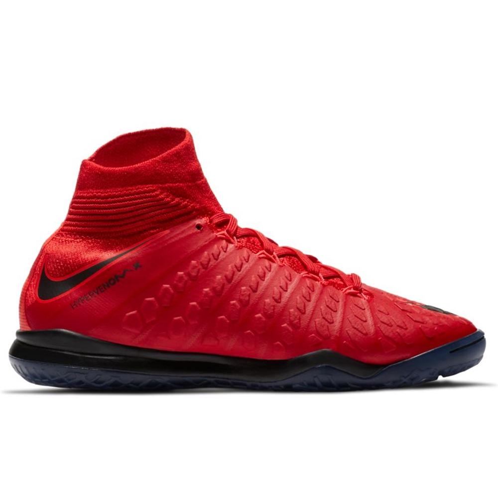 Nike Youth HypervenomX Proximo II DF IC Indoor Soccer Shoes (University Red/ Black/ ...