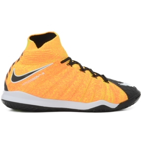 Nike Youth HypervenomX Proximo II DF IC Indoor Soccer Shoes (Laser Orange/White/Black/Volt)