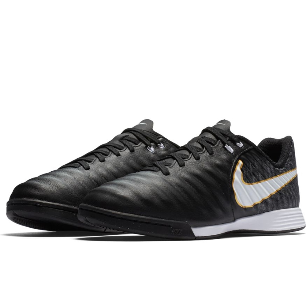 f512ece95 Nike Youth Tiempo Ligera IV IC Indoor Soccer Shoes (Black/White ...