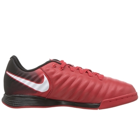 Nike Youth Tiempo Ligera IV IC Indoor Soccer Shoes (University Red/White/Black)