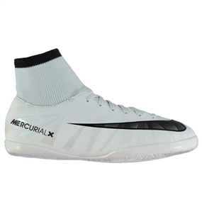 Nike Youth MercurialX Victory VI CR7 DF IC Indoor Soccer Shoes (Blue Tint/Black/White)