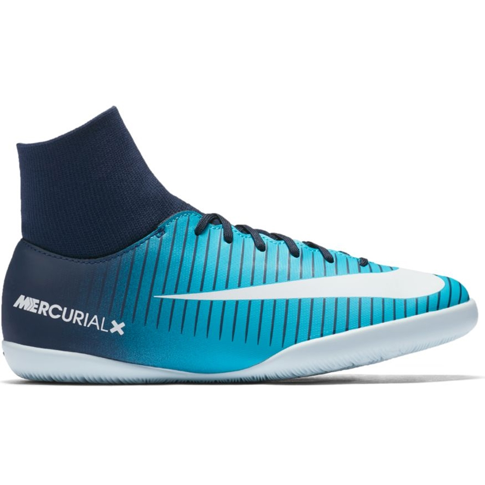 63aa24e0829 Nike Youth Mercurial Victory VI DF IC Indoor Soccer Shoes (Thunder Blue  White Gamma Blue)
