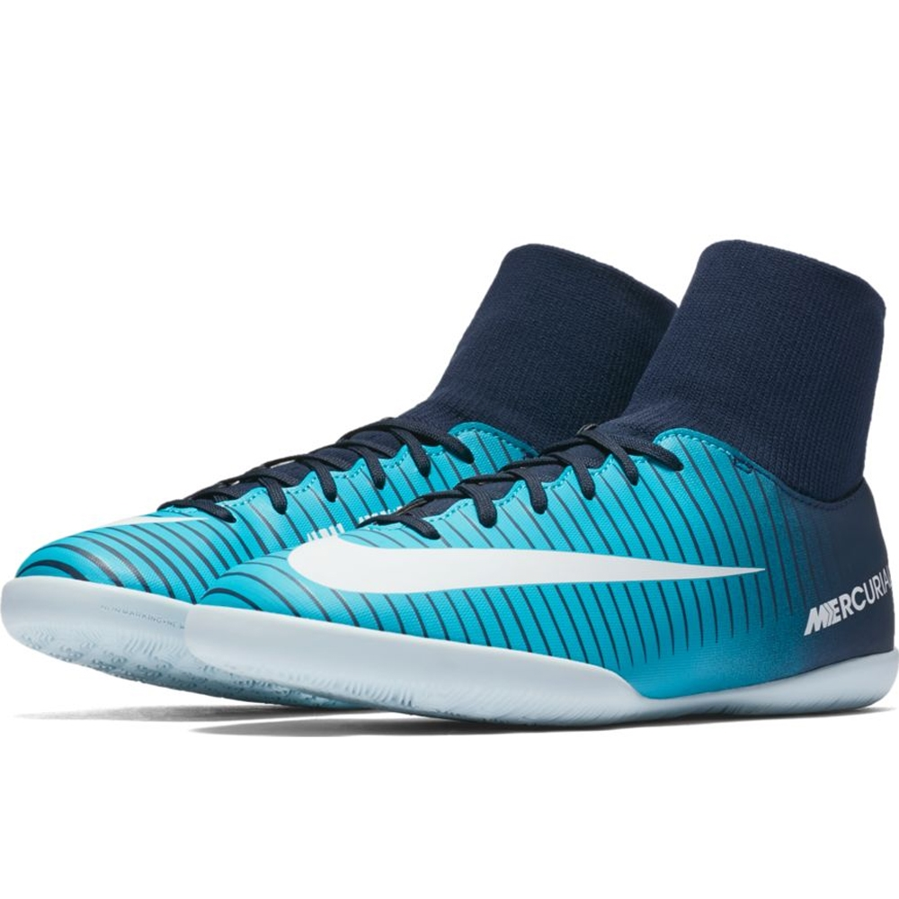 d583423b0 Nike Youth Mercurial Victory VI DF IC Indoor Soccer Shoes (Thunder Blue  White Gamma ...
