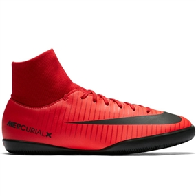 Nike Youth Mercurial Victory VI DF IC Indoor Soccer Shoes (University Red/Black/Bright Crimson)