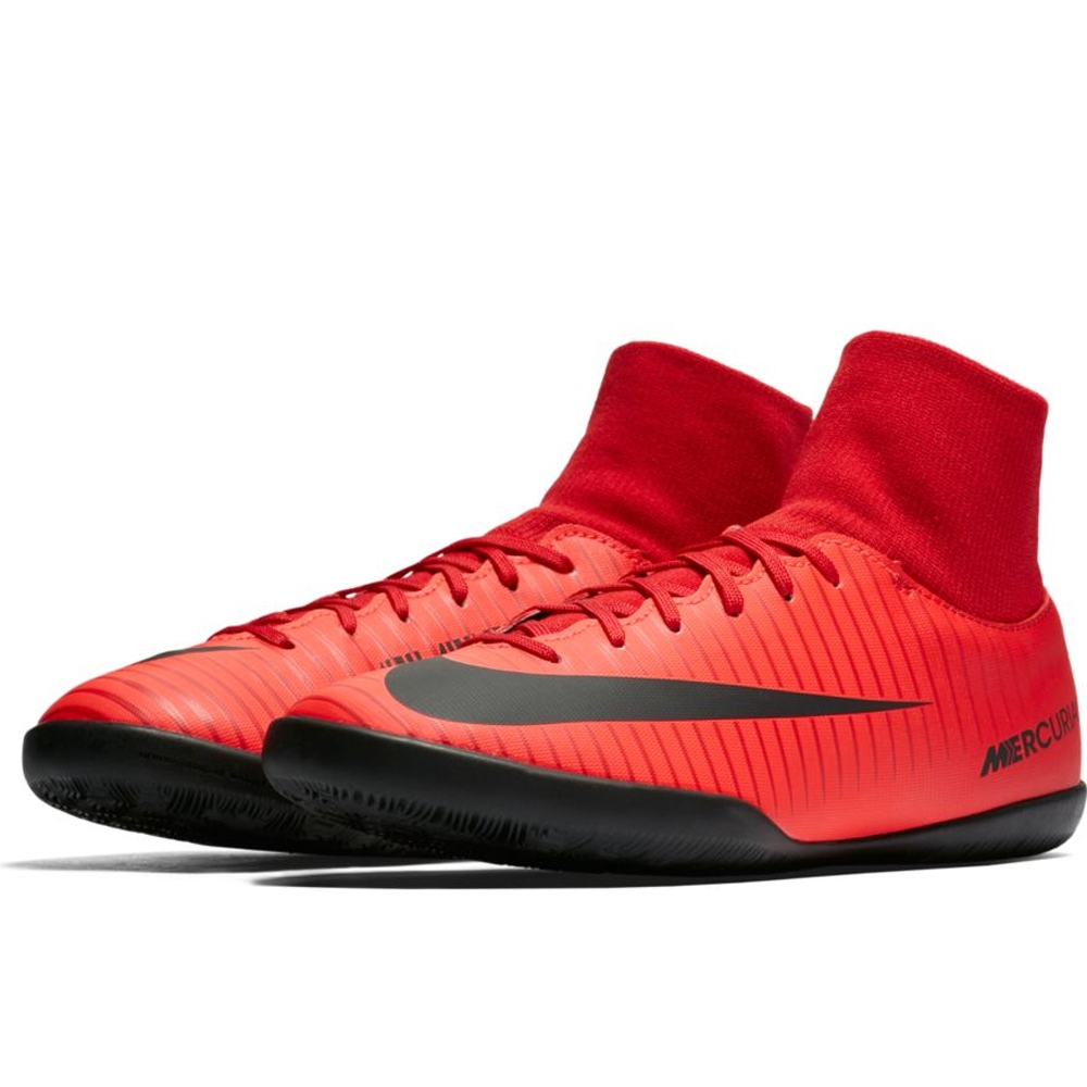 Nike Youth Mercurial Victory VI DF IC Indoor Soccer Shoes (University Red/ Black/Bright ...