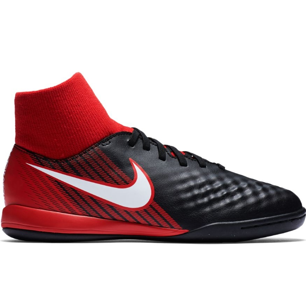Nike Youth MagistaX Onda II DF IC Indoor Soccer Shoes  (Black White University ... 2ed9e690eff