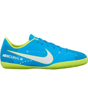 Nike Youth MercurialX Victory VI IC Neymar Indoor Soccer Shoes (Blue Orbit/White/Armory Navy)