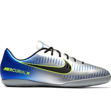 Nike Neymar Youth MercurialX Victory VI IC Indoor Soccer Shoes (Racer Blue/Black/Chrome/Volt)