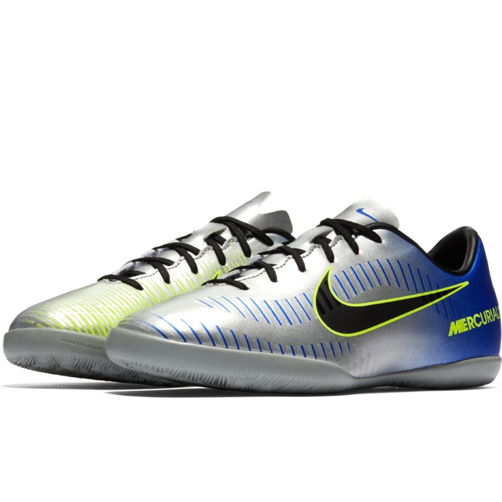 7a27027b1 Nike Neymar Youth MercurialX Victory VI IC Indoor Soccer Shoes (Racer Blue/ Black/Chrome/Volt)
