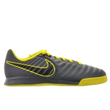 Nike Youth LegendX 7 Academy IC Indoor Soccer Shoes (Dark Grey/Black/Opti Yellow)