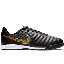 Nike Youth LegendX 7 Academy IC Indoor Soccer Shoes (Black/Metallic Vivid Gold)