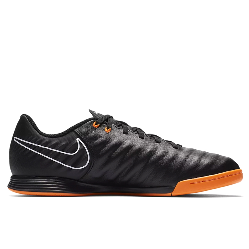 ... Nike Youth Tiempo LegendX VII Academy IC Indoor Soccer Shoes (Black/Total  Orange/