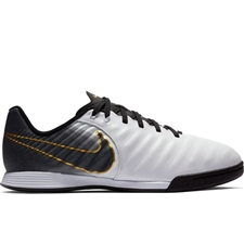 Nike Youth LegendX 7 Academy IC Indoor Soccer Shoes (White/Black)