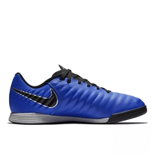 Nike Youth LegendX 7 Academy IC Indoor Soccer Shoes (Racer Blue/Black/Metallic Silver)