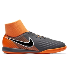 Nike Youth Magista ObraX II Academy DF IC Indoor Soccer Shoes (Dark Grey/Black/Total Orange/White)