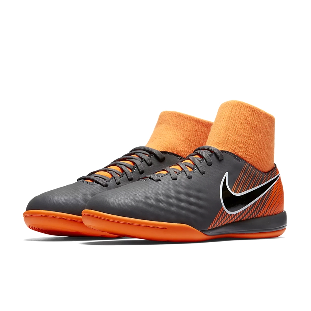 15acec6c0 Nike Youth Magista ObraX II Academy DF IC Indoor Soccer Shoes (Dark Grey  Black Total Orange White)