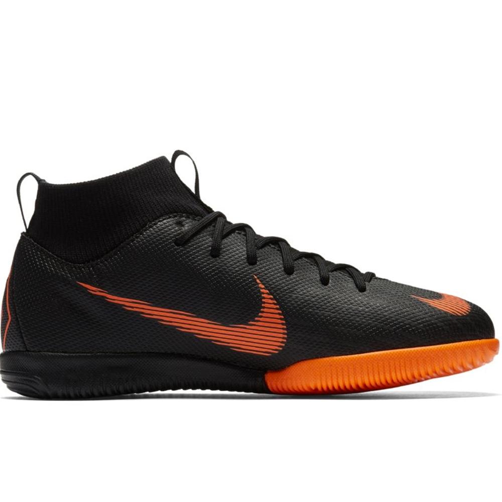 innovative design a0484 acbbe Nike Youth Mercurial SuperflyX VI Academy IC Indoor Soccer Shoes  (Black/Total Orange/White)