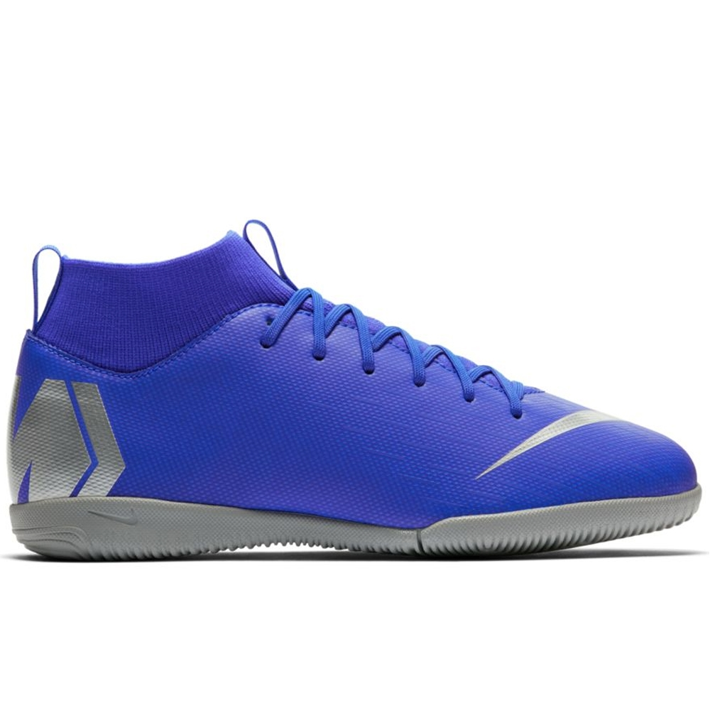 promo code e10c3 5e506 Nike Youth SuperflyX 6 Academy IC Indoor Soccer Shoes (Racer Blue Metallic  Silver Black Volt)   Nike Indoor Soccer Shoes   Nike AH7343-400   FREE  SHIPPING ...