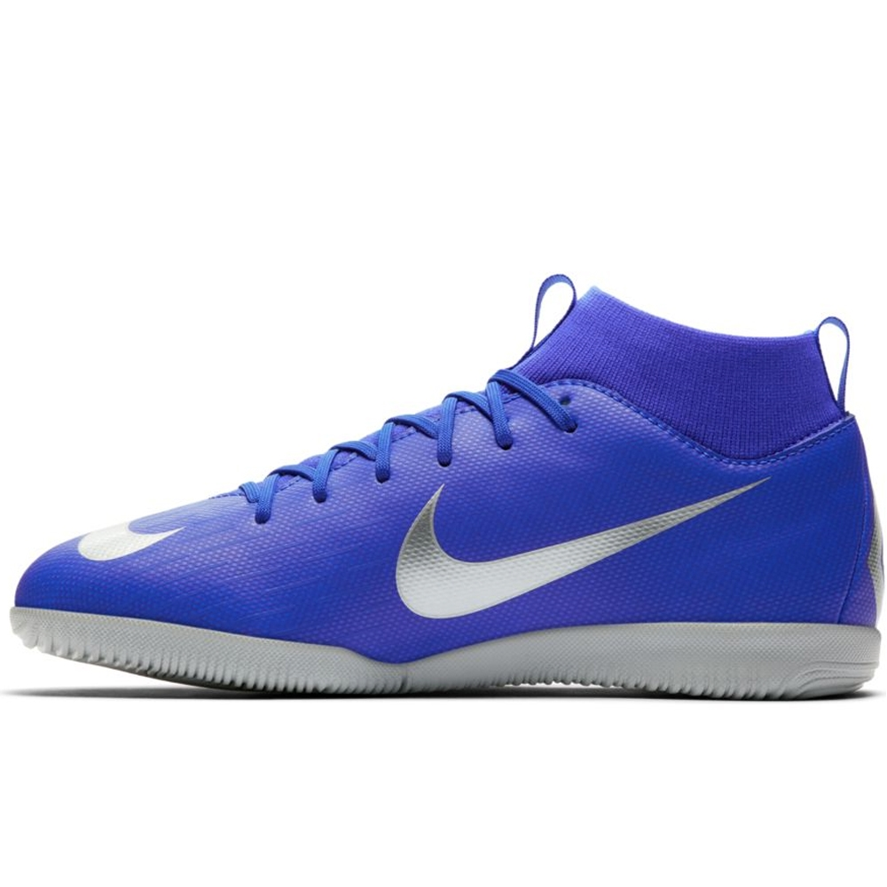 buy popular 8d93c 0362b Nike Youth SuperflyX 6 Academy IC Indoor Soccer Shoes (Racer Blue Metallic  ...