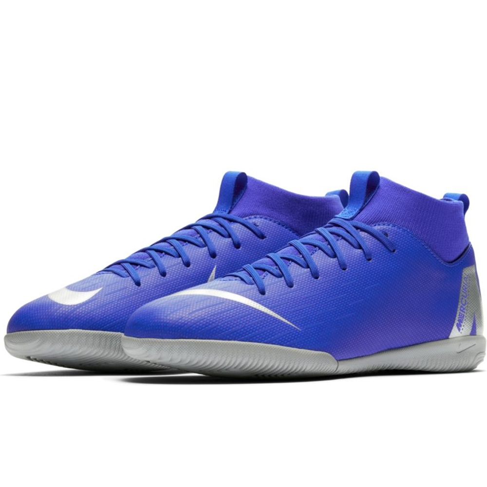 1b5428fe4334 Nike Youth SuperflyX 6 Academy IC Indoor Soccer Shoes (Racer Blue/Metallic  ...