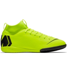 Nike Youth SuperflyX 6 Academy IC Indoor Soccer Shoes (Volt/Black)