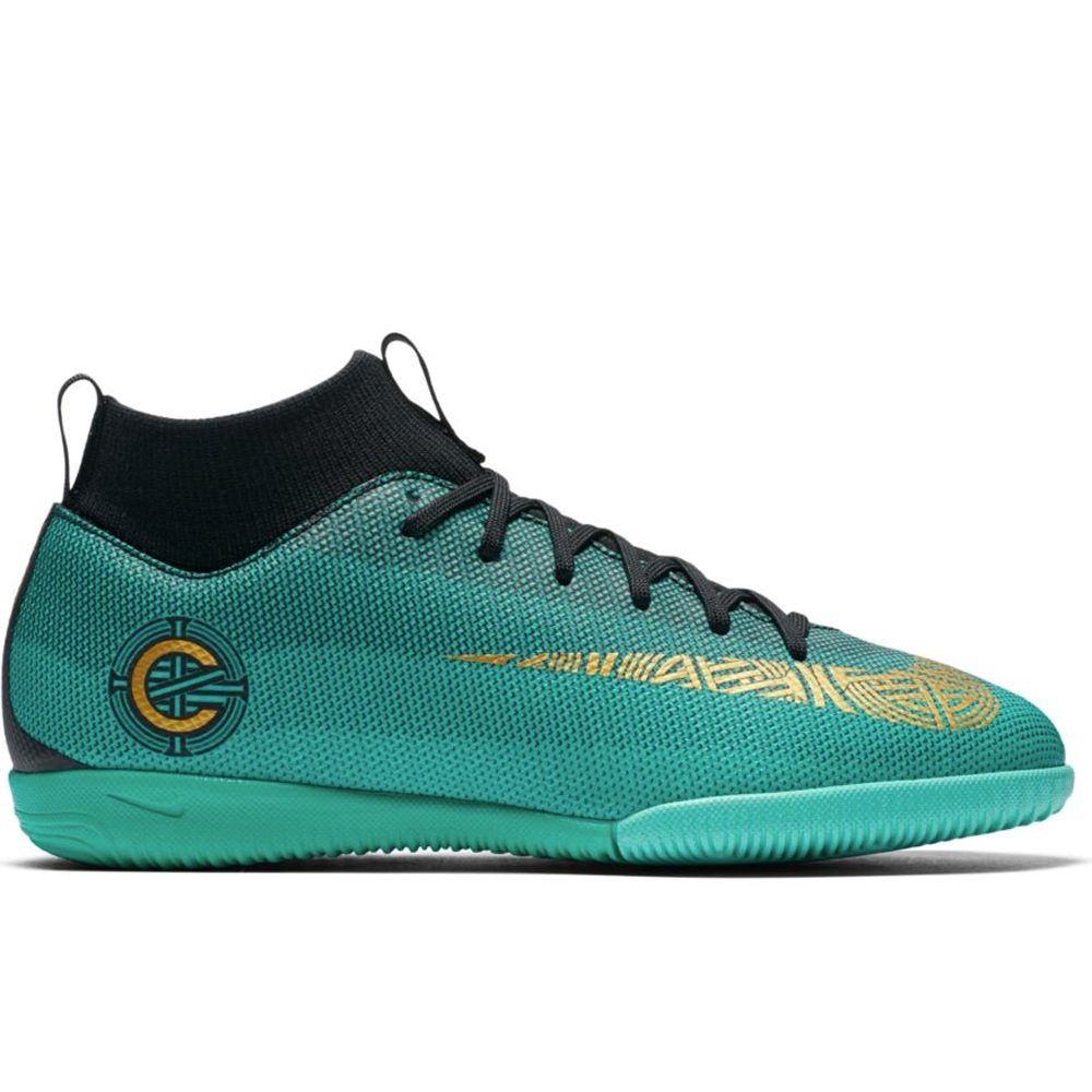 270690014 Nike Youth SuperflyX VI Academy CR7 IC Indoor Soccer Shoes (Clear ...