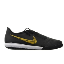 64d4952e9d2 Nike Youth Phantom Venom Academy IC Indoor Soccer Shoes (Black Metallic  Vivid Gold) ...