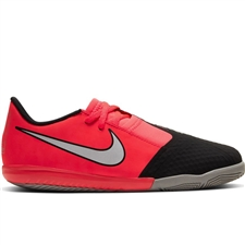 Nike Youth Phantom Venom Academy IC Indoor Soccer Shoes (Laser Crimson/Metallic Silver/Black)