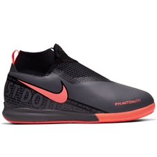 Nike Youth Phantom Vision Academy DF IC Indoor Soccer Shoes (Dark Grey/Bright Mango/Black)