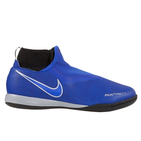 Nike Youth Phantom Vision Academy DF IC Indoor Soccer Shoes (Racer Blue/Black)