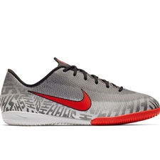 Nike Youth Neymar Vapor 12 Academy IC Indoor Soccer Shoes (White/Challenge Red/Black)