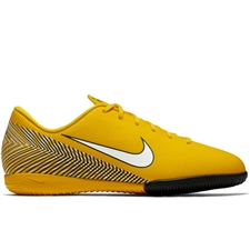 Nike Youth Neymar Vapor 12 Academy IC Indoor Soccer Shoes (Amarillo/White/Black)