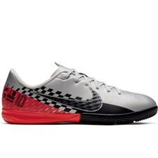 Nike Youth Neymar Vapor 13 Academy IC Indoor Soccer Shoes (Chrome/Black/Red Orbit/Platinum Tint)