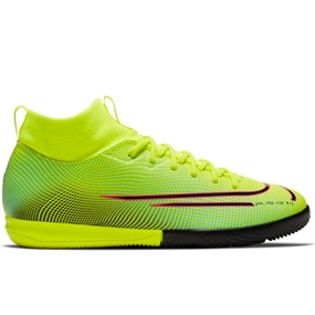 Nike Youth Mercurial Superfly 7 Academy MDS IC Indoor Soccer Shoes (Lemon Venom/Black/Aurora Green)