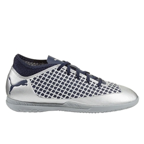 Puma Youth Future 2.4 Indoor Soccer Shoes (Puma Silver/Peacoat)
