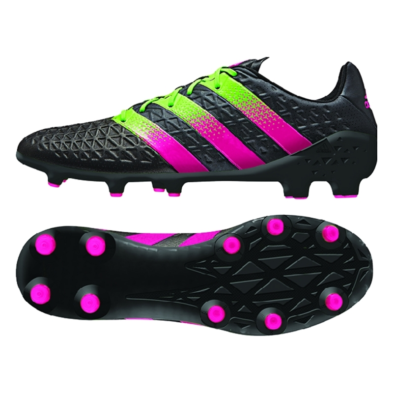 sale retailer c5bb4 bf3ec Adidas ACE 16.1 FG AG Soccer Cleats (Black Solar Green Shock Pink