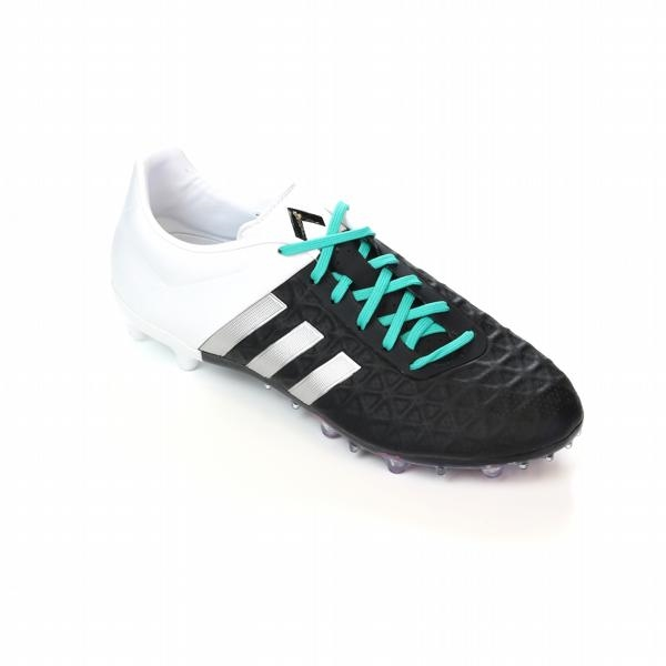 new product b9f64 cb5af Adidas ACE 15.2 FG/AG Soccer Cleats (Black/Matte Silver/White)