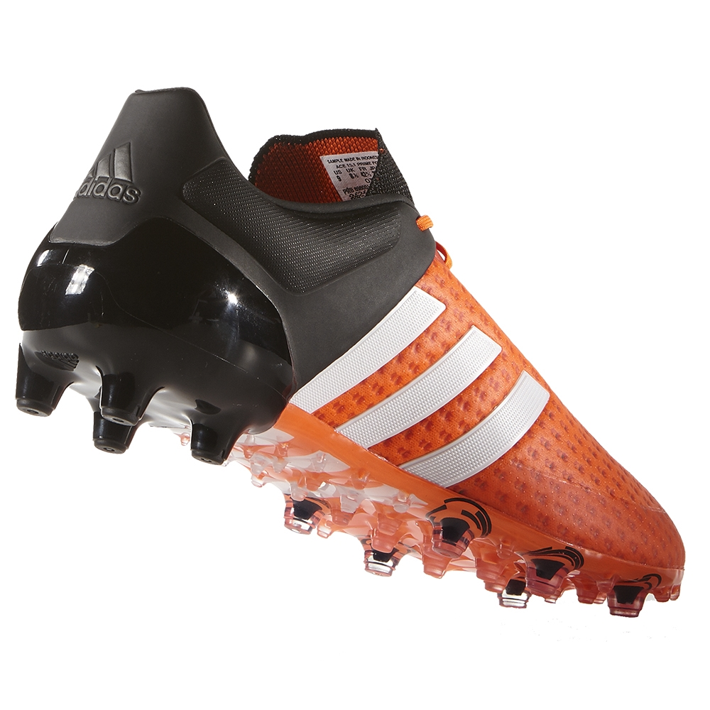 new concept 25b77 bce7e Adidas ACE 15+ Primeknit FG Soccer Cleats (Solar Orange/White/Black)