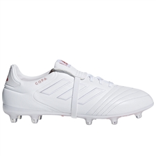 Adidas Copa Gloro 17.2 FG Soccer Cleats (White/Real Coral)
