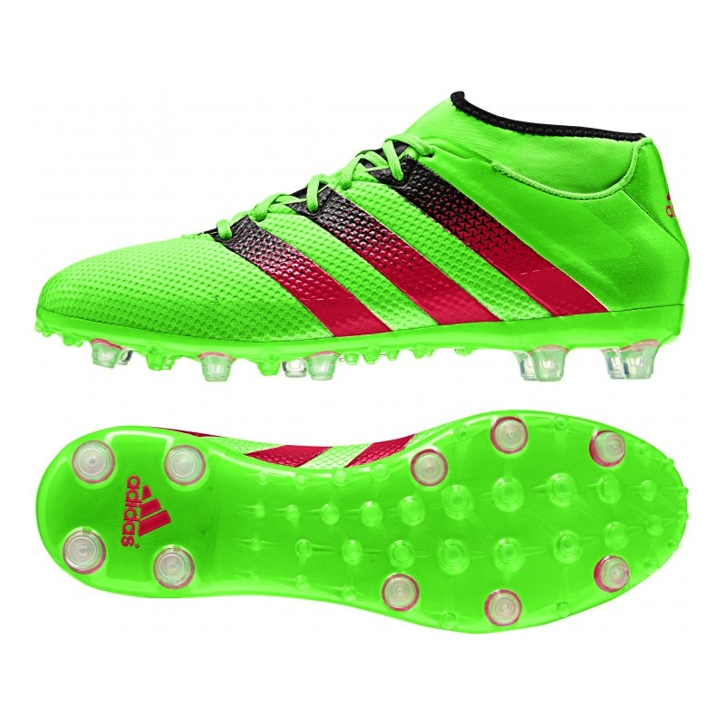 on sale 606ed 0ae17 Adidas ACE 16.2 Primemesh FG/AG Soccer Cleats (Solar Green/Shock Pink/Black)